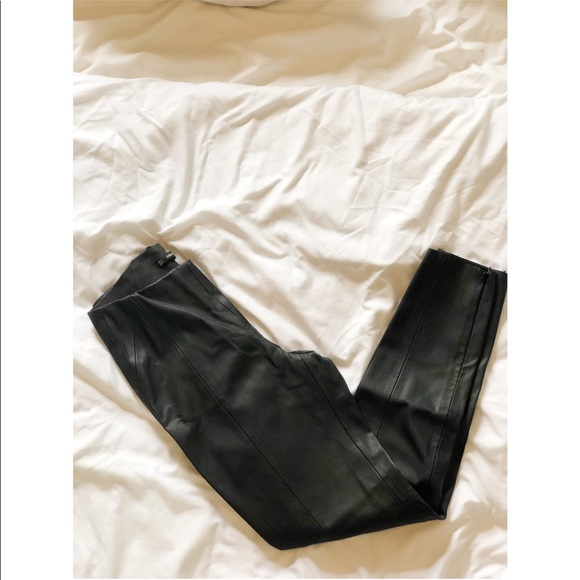 Zara Pants - Faux skinny leather pants (never worn)